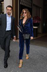 DEBBY RYAN Leaves Her Hotel in Paris 09/28/2019