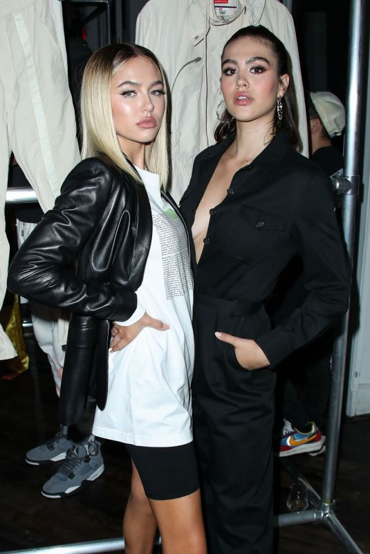 DELILAH and AMELIA HAMLIN at Diesel Red Tag x A-cold-wall Dinner in New York 09/09/2019