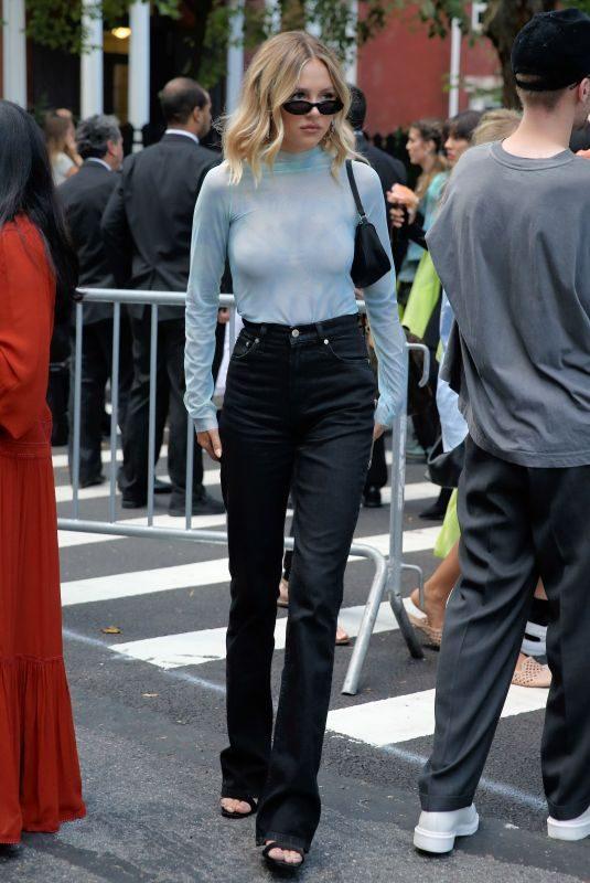 DELILAH HAMLIN Arrives at Collina Strada Show at New York Fashion Week 09/08/2019