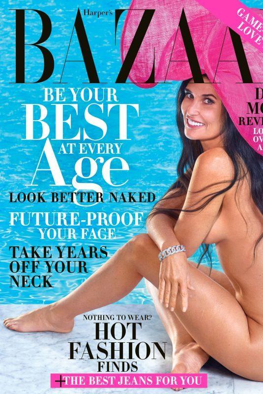 DEMI MOORE in Harper's Bazaar Magazine, October 2019