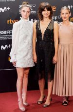 DENISE GOUGH, RAFFEY CASSIDY and MALGORZATA SZUMOWSKA at The Other Lamb Premiere at 67th San Sebastian Film Festival 09/23/2019