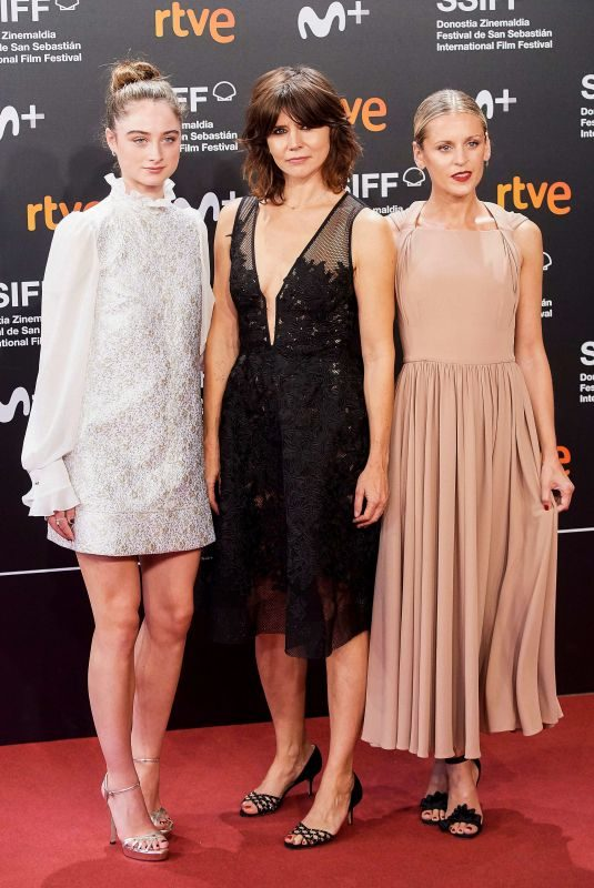 DENISE GOUGH, RAFFEY CASSIDY and MALGORZATA SZUMOWSKA at The Other Lamb Premiere at 67th San Sebastian Film Festival 09/23/2019