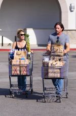 DENISE RICHARDS Out Shopping in Woodland Hills 09/01/2019
