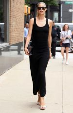 DOUTZEN KROES Arrives at Gabriela Hearst Show at New York Fashion Week 09/10/2019
