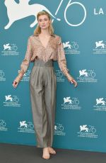 ELIZABETH DEBICKI at The Burnt Orange Heresy Photocall at 2019 Venice Film Festival 09/07/2019
