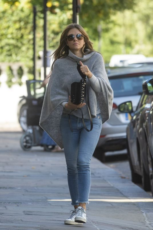 ELIZABETH HURLEY Out and About in London 09/12/2019