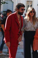 ELIZABETH OLSEN and Robbie Arnett Out at Milan Fashion Week 09/21/2019