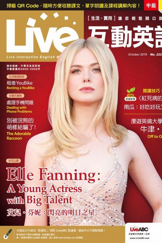 ELLE FANNING in Live Magazine, October 2019