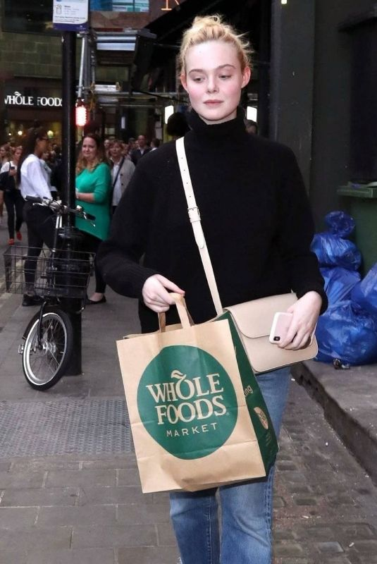 ELLE FANNING Out and About in London 09/11/2019