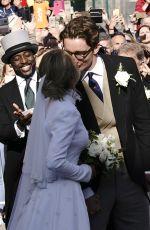 ELLIE GOULDING and Caspar Jopling at Their Wedding in York 08/31/2019
