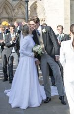 ELLIE GOULDING and Caspar Jopling at Their Wedding in York 08/31/2019