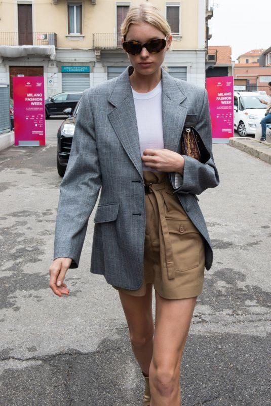 ELSA HOSK Out at Milan Fashion Week 09/22/2019