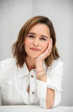EMILIA CLARKE at Last Christmas Press Conference in Beverly Hills 09/19/2019
