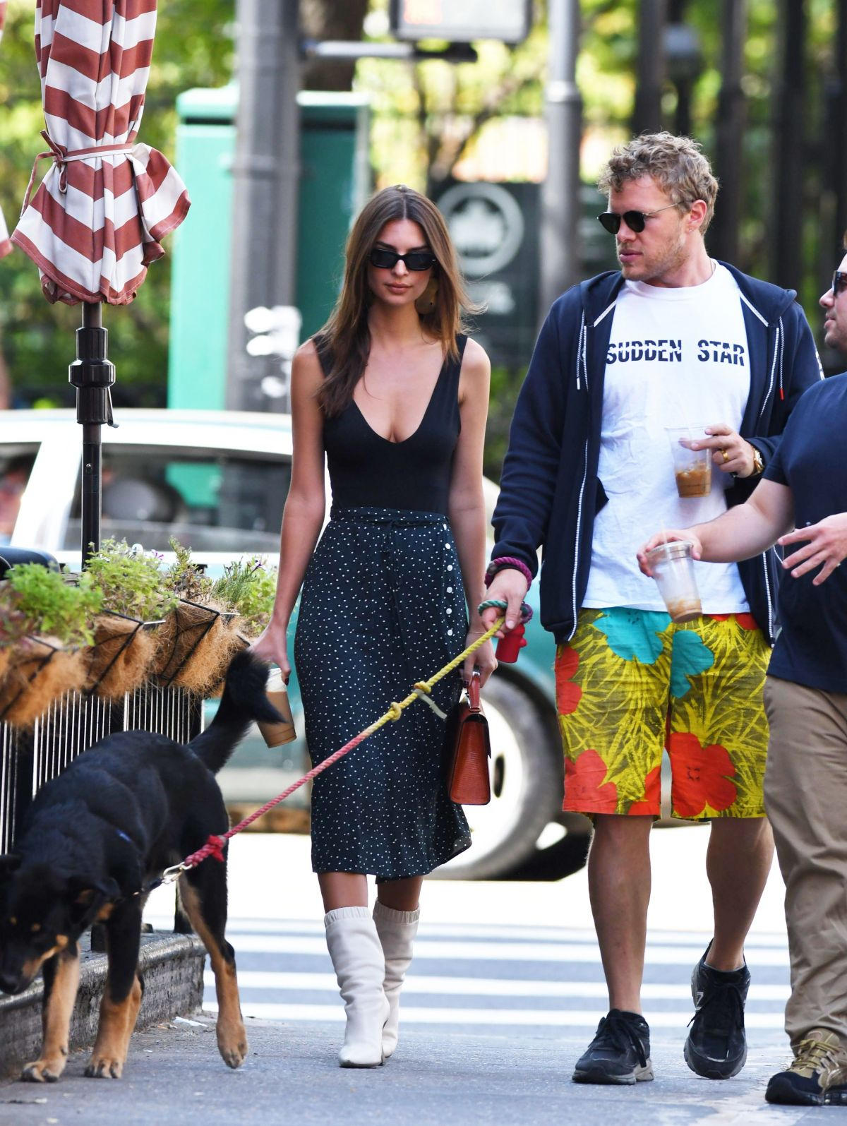 Emily Ratajkowski And Sebastian Bear Mcclard Out With Their Dog In New York 09 21 2019 Hawtcelebs