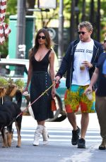 EMILY RATAJKOWSKI and Sebastian Bear-McClard Out with Their Dog in New York 09/21/2019
