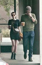 EMMA ROBERTS and Garrett Hedlund Out for Lunch in Los Angeles 09/27/2019