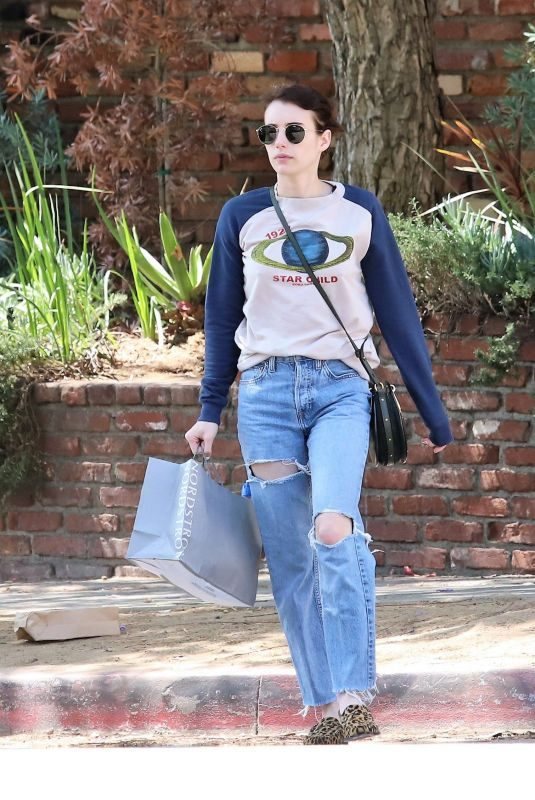 EMMA ROBERTS Out Shopping in Los Angeles 09/12/2019