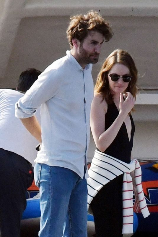 EMMA STONE and Dave McCary Out in Capri 09/12/2019