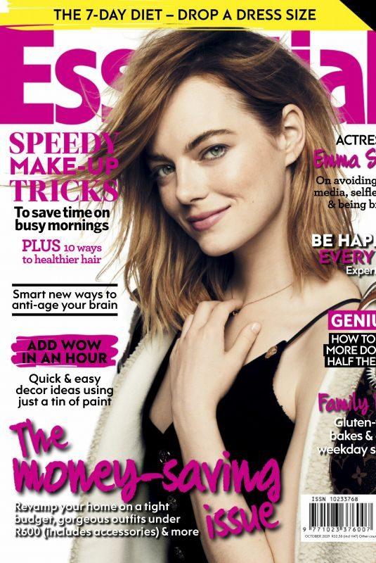 EMMA STONE in Essentials Magazine, South Africa October 2019