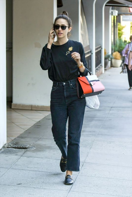 EMMY ROSSUM Out and About in Los Angeles 09/23/2019
