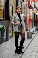 ENOLA RIGHI Arrives at Christophe Guillarme Show at Paris Fashion Week 09/25/2019