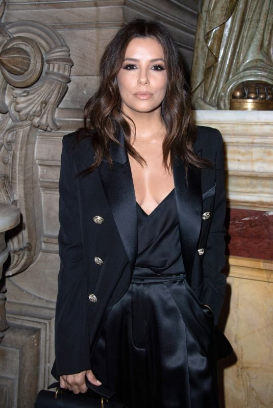 EVA LONGORIA at Balmain Fashion Show at PFW in Paris 09/28/2019