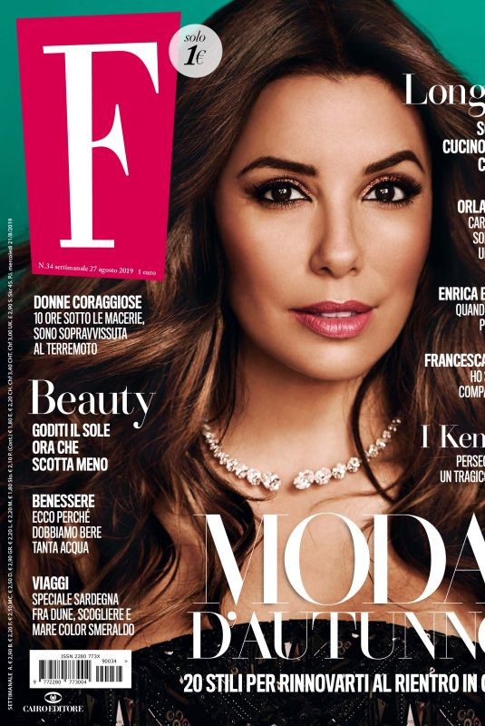 EVA LONGORIA in F Magazine, August 2019