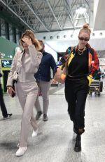 GIGI and BELLA HADID at Milan Malpensa Airport 09/22/2019