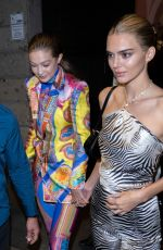 GIGI HADID and KENDALL JENNER at Versace Show Party at Milan Fashion Week 09/20/2019