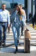 GIGI HADID Arrives at Airport in Milan 09/17/2019