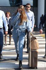 GIGI HADID Arrives at MFW in Milan 09/17/2019