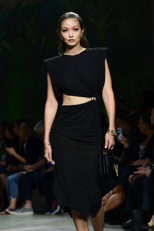 GIGI HADID at Versace Runway Show at Milan Fashion Week 09/20/2019