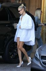 HAILEY BIEBER Leaves Montage Hotel in Beverly Hills 09/21/2019