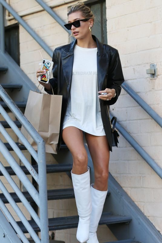 HAILEY BIEBER Out in Beverly Hills 09/17/2019