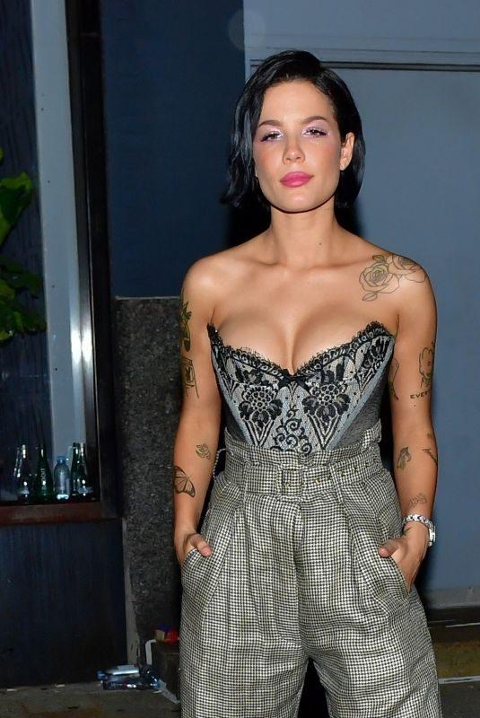 HALSEY Leaves Rihanna's Fenty Party in New York 09/10/2019