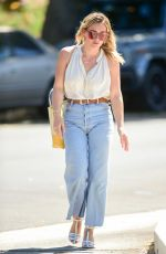 HILARY DUFF in Denim Out for Coffee in Studio City 09/13/2019