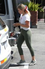 HILARY DUFF in Leggings Out Shopping in Los Angeles 08/21/2019