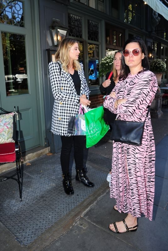 HOLLY VALANCE Leaves Ivy Chelsea Restaurant in London 09/17/2019