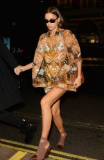 IRINA SHAYK Arrives at Love Magazine London Fashion Week Party 09/16/2019