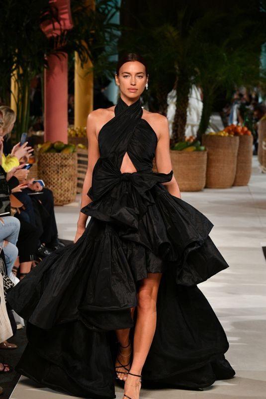 IRINA SHAYK at Oscar De La Renta Runway Show at New York Fashion Week 09/10/2019