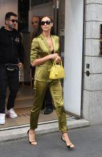IRINA SHAYK Out at Via Montenapoleone in Milan 09/20/2019