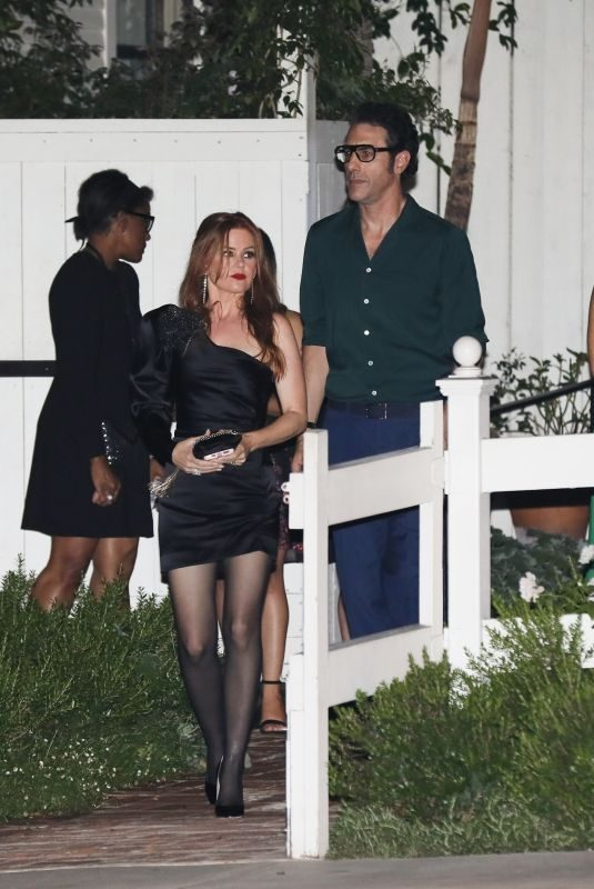 ISLA FISHER and Sacha Baron Cohen at a Dinner Party in West Hollywood 09/21/2019