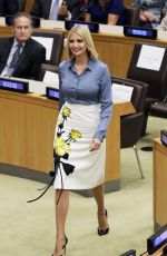 IVANKA TRUMP at a Meeting at United Nations Headquarters in New York 09/23/2019