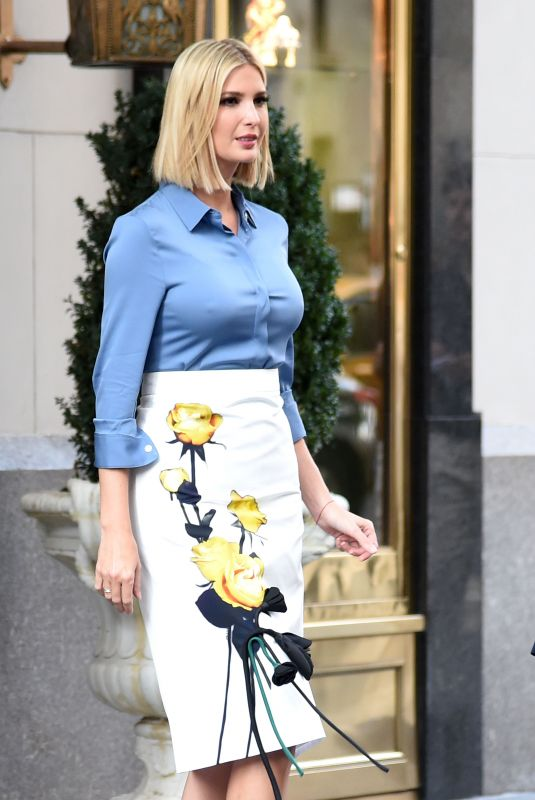 IVANKA TRUMP Leaves Her Hotel in New York 09/23/2019