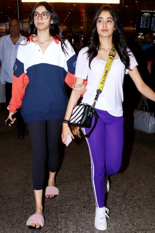 JANHVI and KHUSHI KAPOOR at Airport in Mumbai 09/05/2019