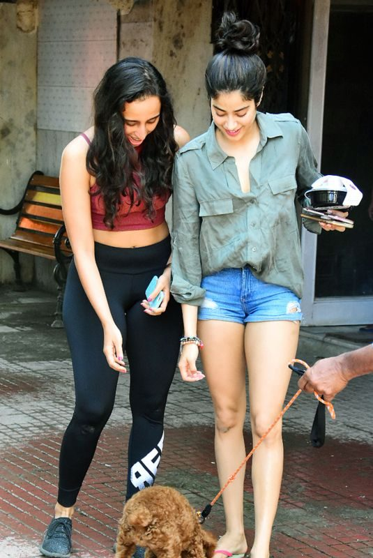 JANHVI KAPOOR Outside Her Gym in Mumbai 09/21/2019