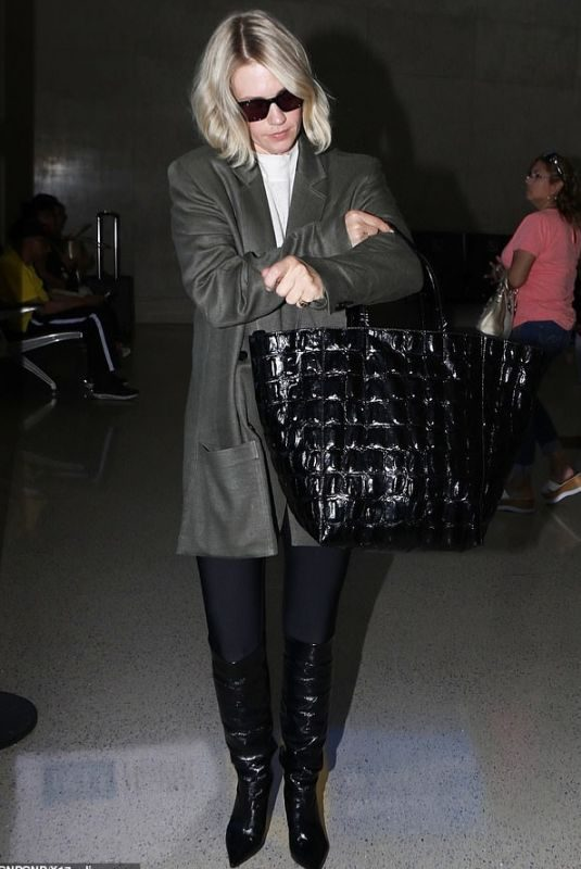 JANUARY JONES at Los Angeles Intenational Airport 09/27/2019