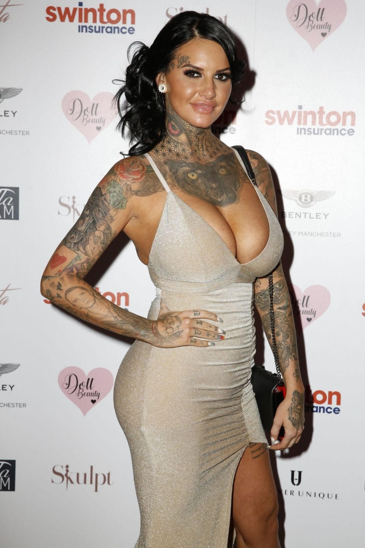 JEMMA LUCY at Creme Charity Ball in Cheshire 09/21/2019