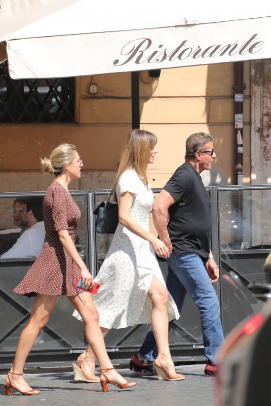 JENNIFER FLANVIN, SOPHIA and Sylvester Stallone in Rome 09/03/2019