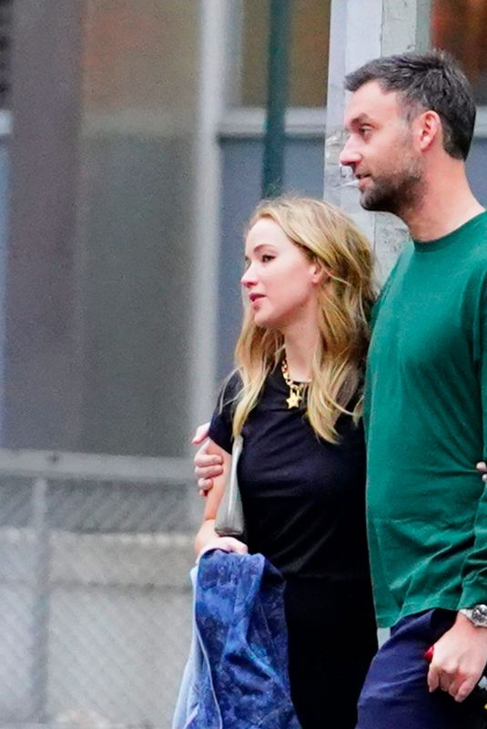 JENNIFER LAWRENCE and Cooke Maroney in New York 09/16/2019